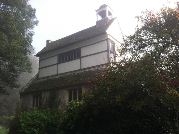 Lacock Abbey courtyard