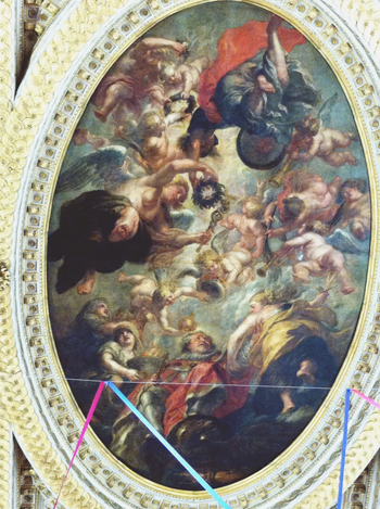 Banqueting House James I Rubens painting