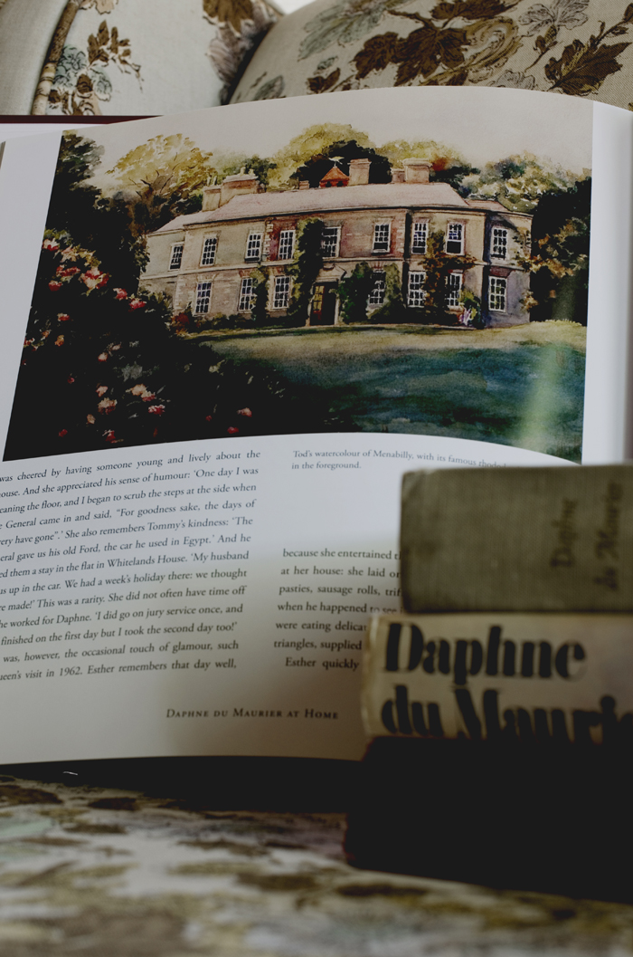 Menabilly Watercolor Daphne du Maurier at Home