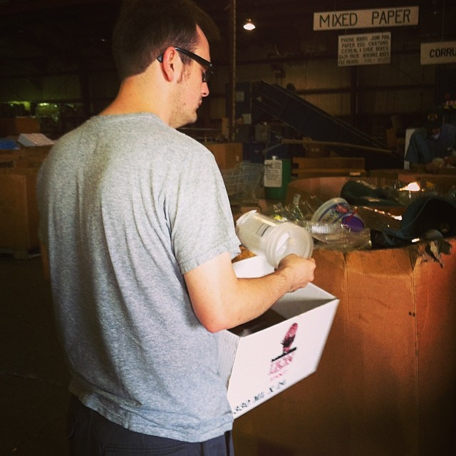 Paul at Recycling Center #1day12pics